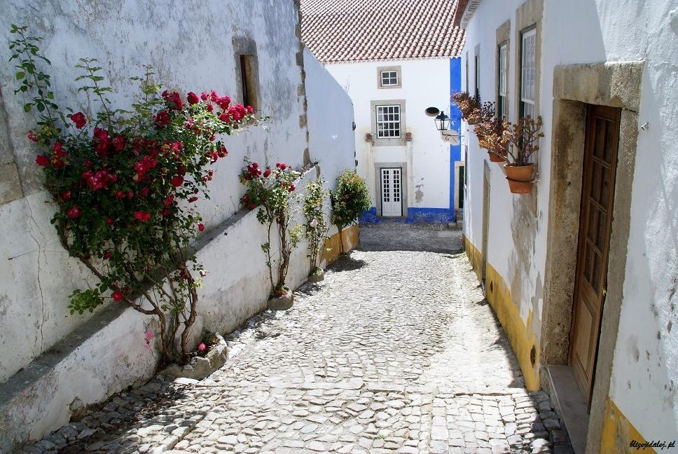 Romantyczne miasteczko Obidos, Portugalia