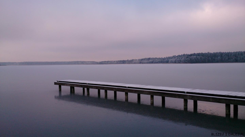 Augustów; jezioro Necko; Augustów zimą